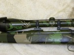 "Savage 7mm-08, Bushnell elite scope, ""custom 5 color camo"""