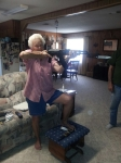 """You know you have a """"COOL"""" Grandmaw when she loves her new AK 47"""